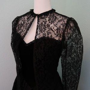 Vintage Gunne Sax Lace and Velvet  Formal